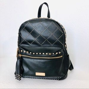 Bebe black studded small backpack